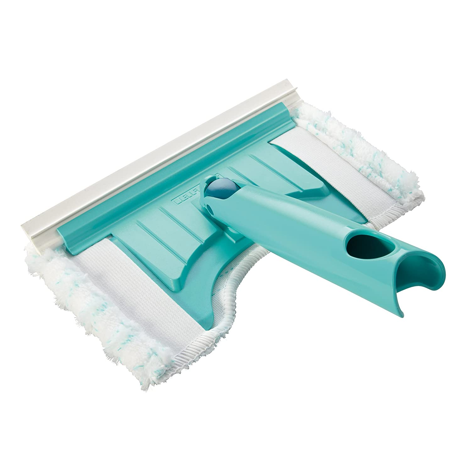 Leifheit Click System Bath Scrubber Flexi Pad with Fixture Cutout, Turquoise 41701