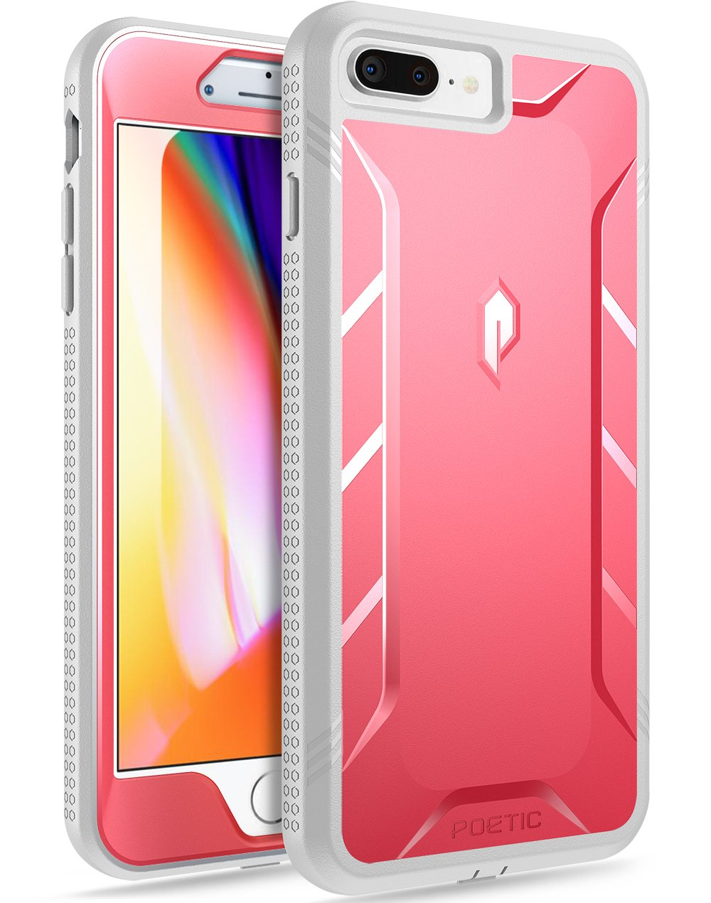 online retailer 81eda 59904 Poetic iPhone 7 Plus/iPhone 8 Plus Case, Revolution [360 Degree Protection]  Full-Body Rugged Heavy Duty Case w/Built-in-Screen Protector for Apple ...