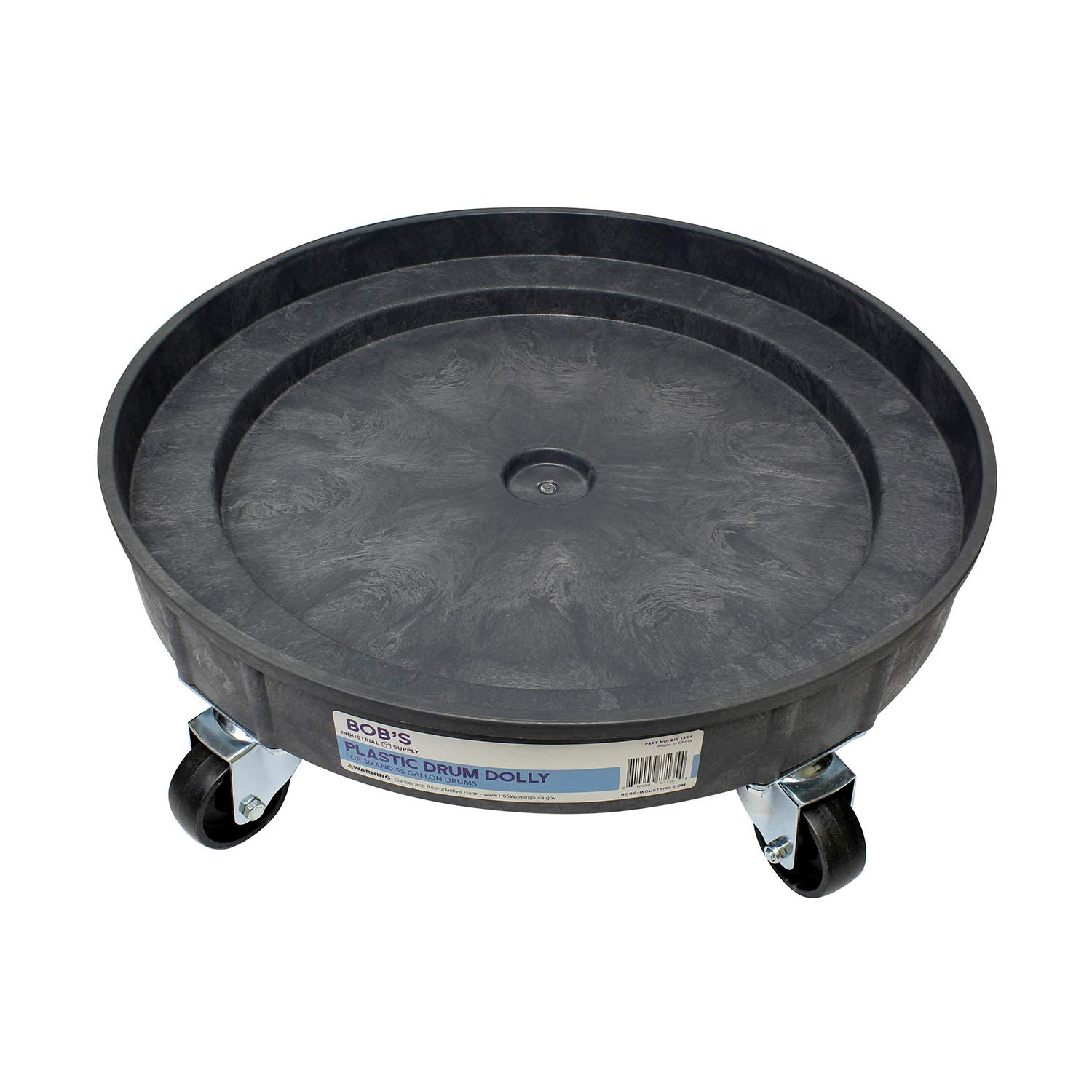 BISupply | Plastic 30 55 Gal Drum Dolly Barrel Cart Barrel Dolly for 55 Gallon Drum Dolly 55 Gallon 30 Gallon Drum Dolly