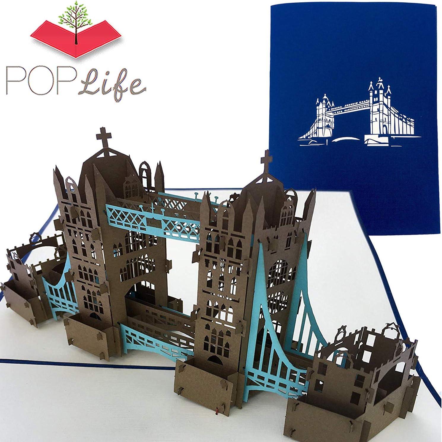 BIG BEN TOWER  HANDMADE 3D POP UP GREETING CARD ARCHITECTURE,VALENTINE CARD