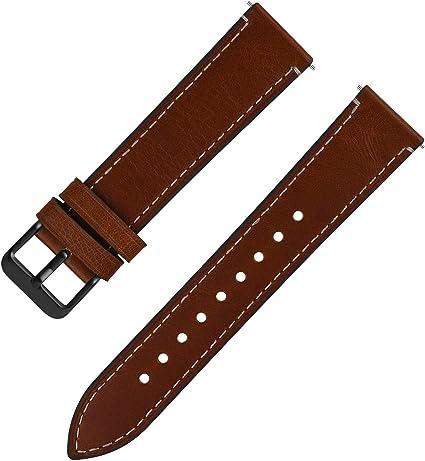 Bracelet montre en cuir de veau noir modèle classique disponible de 8 à 20 mm