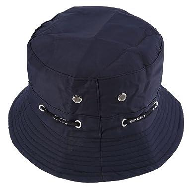 belles chaussures choisissez le dégagement vente la moins chère Faleto Bob Chapeau pêcheur en Coton Unisexe Bucket Hat Pliable avec chaîne  Chapeau pour Adultes et Juniors Couleur varié