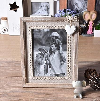 liuhoue Madera Manualidades portaretrato, Clásico Antiguo portaretrato Foto Decoración hogar Marco-A 12.7x17