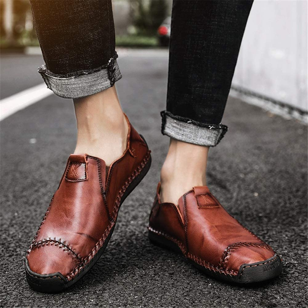 Elegdy Mens Fashion Oxford Casual Comfortable Slip On Classic Solid Color Round Toe Formal Shoes Dress Shoes