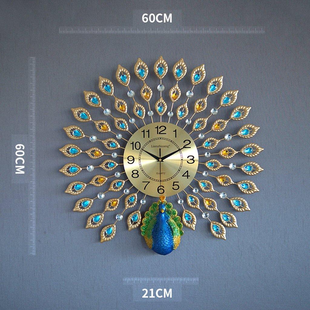 GRJH® ピーコックウォールクロック、リビングルームヨーロピアンスタイルクリエイティブ時計ホームミュート時計モダンな装飾ポケット時計中国スタイル クリエイティブファッションシンプル ( 色 : #5 ) B07CMMNZXY #5 #5