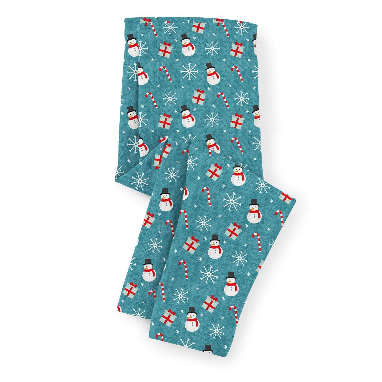 Snowmen and Candy Canes Kids Capri Leggings