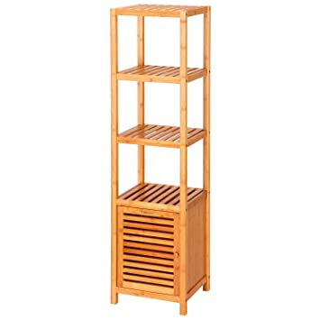 bathroom floor cabinet amazon with marble top white canada tier natural bamboo tower plant stands functional display rack