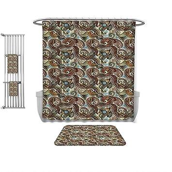 Amazon Com Qinyan Home Decorate The Bathroom Paisley Decor