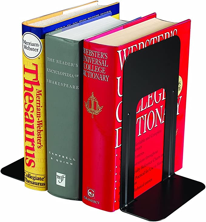 Silver 241005050 5 Inch Bookends Steelmaster Soho Collection Economy Steel 1 Pair