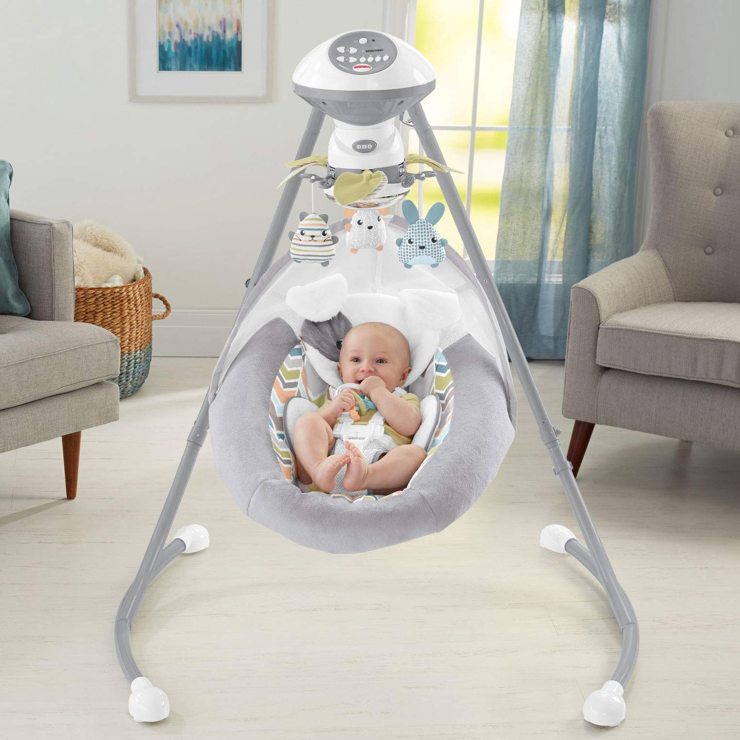 Fisher-Price Sweet Snugapuppy Dreams Cradle 'n Swing by Fisher-Price (Image #13)