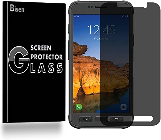 Amazon Com Samsung Galaxy S7 Active Not Fit Samsung S7 S7 Edge Anti Spy Tempered Glass Screen Protector Bisen Privacy Screen 9h Anti Scratch Anti Shock Bubble Free Lifetime Protection Replacement