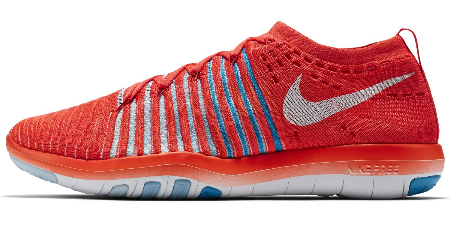 NIKE Womens Free Focus Flyknit Mesh Breathable Trainers B01HLE6W68 6.5 B(M) US| BRIGHT CRIMSON/WHITE-BLUE TINT-BLUECAP