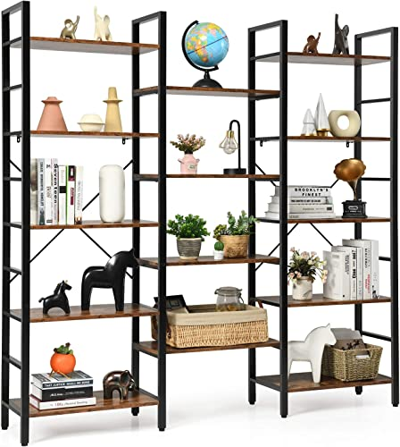 Reviewed: Tangkula Triple Wide 5-tier Bookcase
