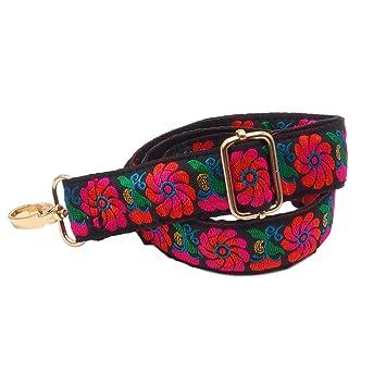 BENAVA Taschengurt Schultergurt für Tasche Bunt Verstellbar mit Blumen Muster
