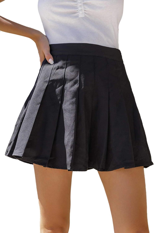 Short skater skirt with zip
