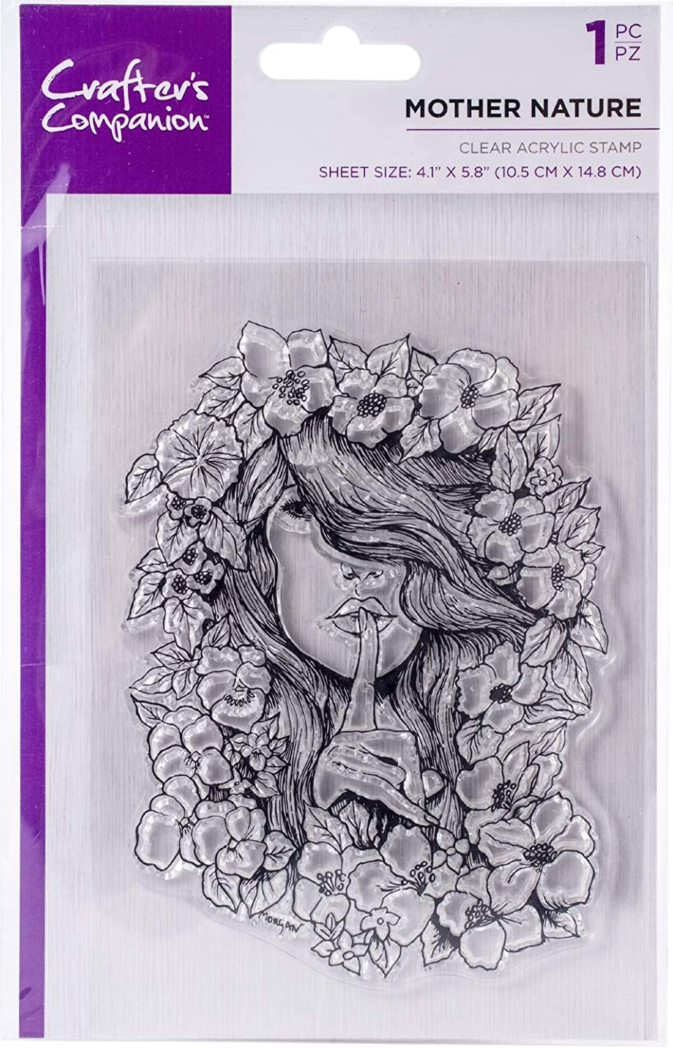 """Crafter's Companion Clear Stamps 4.1""""X5.8""""-Mother Nature"""