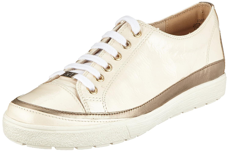 Caprice 23654, Zapatos de Cordones Derby para Mujer 36 EU|Blanco (Cream Napl Mud 150)