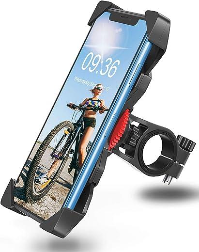 Bovon Handyhalterung Fahrrad Anti-Shake 360° Rotation Fahrradhalterung Handy, Motorrad Fahrrad Lenker Komptibel mit iPhone 12 Pro, 12 Mini, 11 Pro...