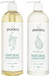 Puracy Natural Shampoo and Conditioner Set, Sulfate-Free Vegan Hair Care, 16 Ounce, (Pack of 2)