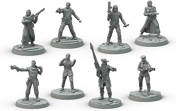 Modiphius Entertainment Fallout: Wasteland Warfare: Survivors Miniatures Core Box: Amazon.es: Juguetes y juegos