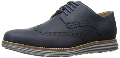 355e2cd68ad7f Cole Haan Men s OriginalGrand Wingtip Oxford 7 Blazer Blue Leather-Ironstone