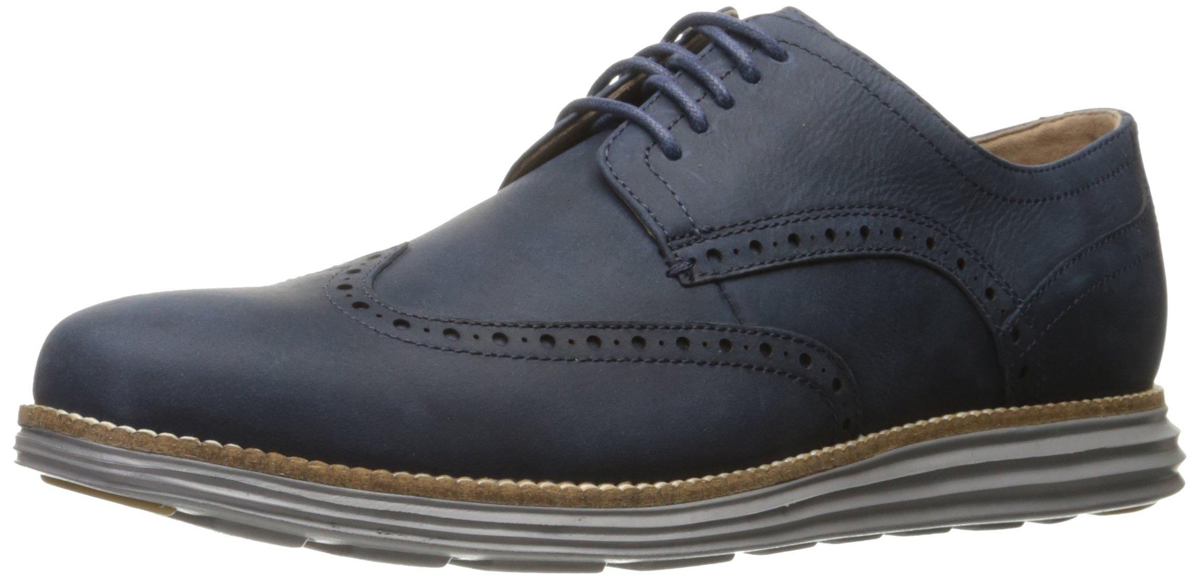 Cole Haan Men's Original Grand Shortwing Oxford, Blazer Blue/Ironstone, 12 Medium US