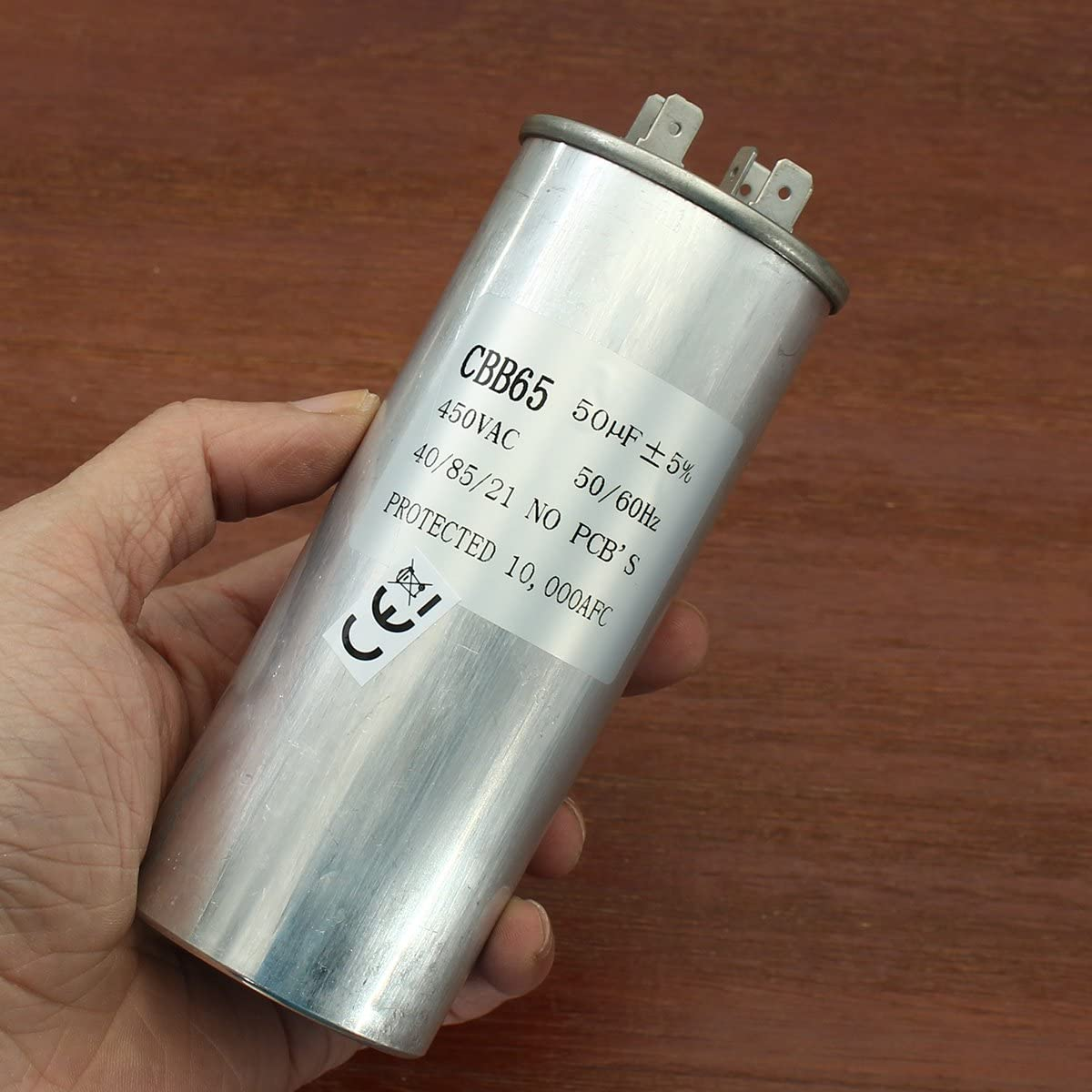 Bluelover 15-50Uf Capacitateur De Moteur Cbb65 450Vac Climatiseur Compresseur D/émarrage Capacitor E