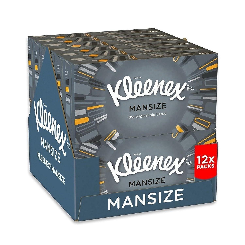Kleenex Mansize Tissues, Pack of 12 Kimberly-Clark Ltd 3719030