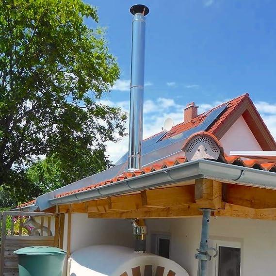 /Ø 200mm, 31-45/° Edelstahl mit Blei Schornstein Dachdurchf/ührung inklusive Wetterkragen in allen Neigungen und Durchmessern