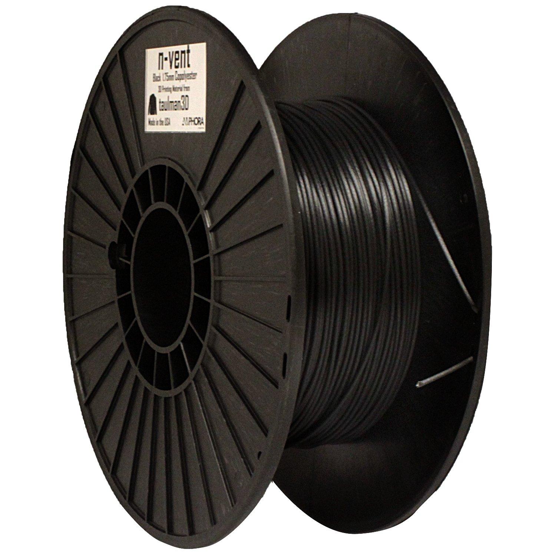 1.75 mm diameter Black Taulman N-Vent Filament 1 lb
