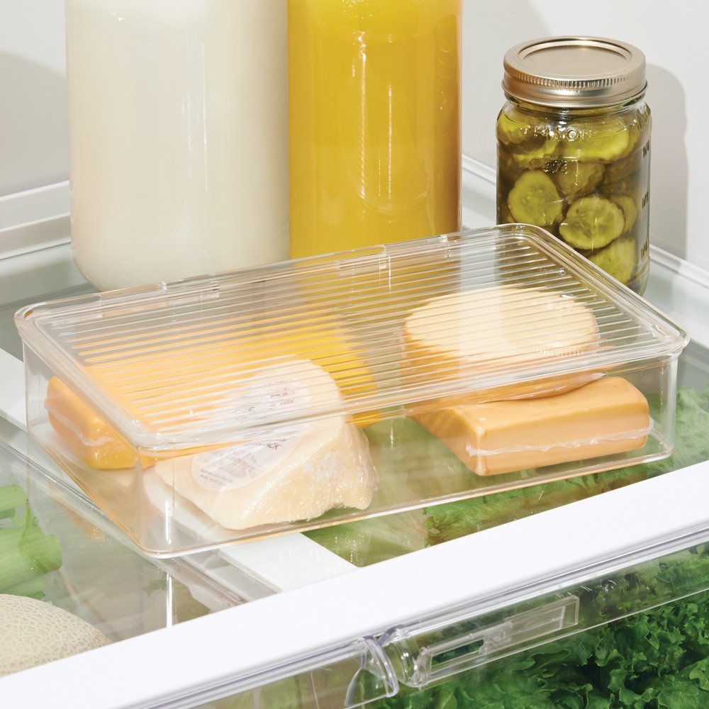 Amazon.com: InterDesign Kitchen, Pantry, Refrigerator, Freezer Storage  Container With Hinged Lid, 2 Quart, Clear: Home U0026 Kitchen