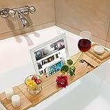 ADD ONE +1 Bamboo Bathtub Caddy Bath Tub Tray with Soap Holder