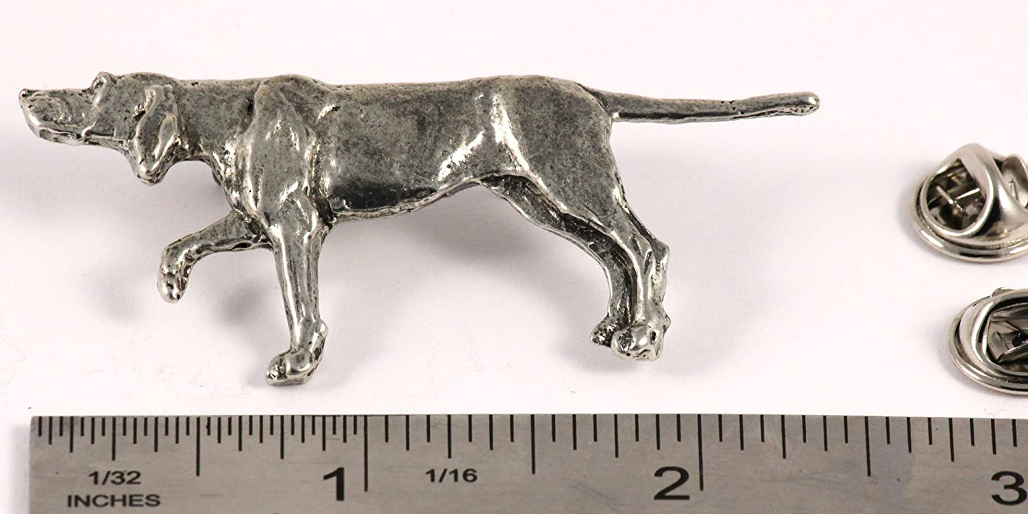 Brooch English Pointer Dog Pewter Lapel Pin D376F Jewelry