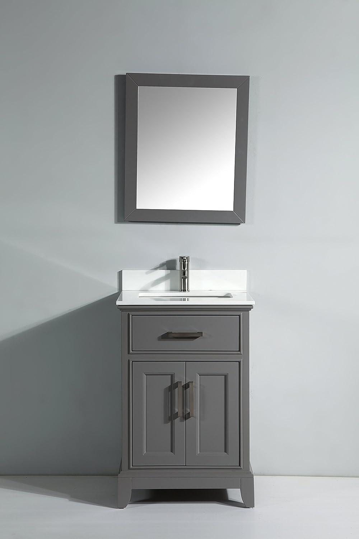 Vanity art 24 single sink bathroom vanity set with super white vanity art 24 single sink bathroom vanity set with super white phoenix stone with free mirror va1024 g amazon geotapseo Image collections