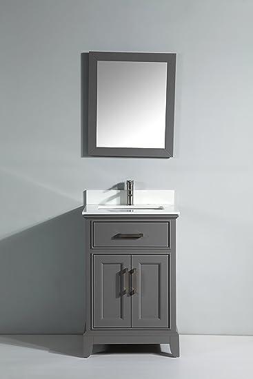 Vanity Art 24u201d Single Sink Bathroom Vanity Set With Super White Phoenix  Stone With Free