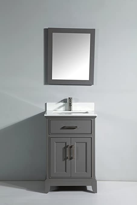 Vanity Art 24 Single Sink Bathroom Vanity Set With Super White