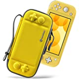 tomtoc Slim Case for Nintendo Switch Lite, Original Patent Protective Portable Carrying Case Travel Storage Hard Shell with 8 Game Cartridges and Military Level Protection, Yellow