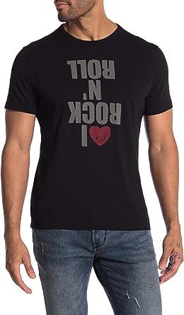 John Varvatos Star USA Mens Short Sleeve Rat Punk Rocker Graphic T-Shirt