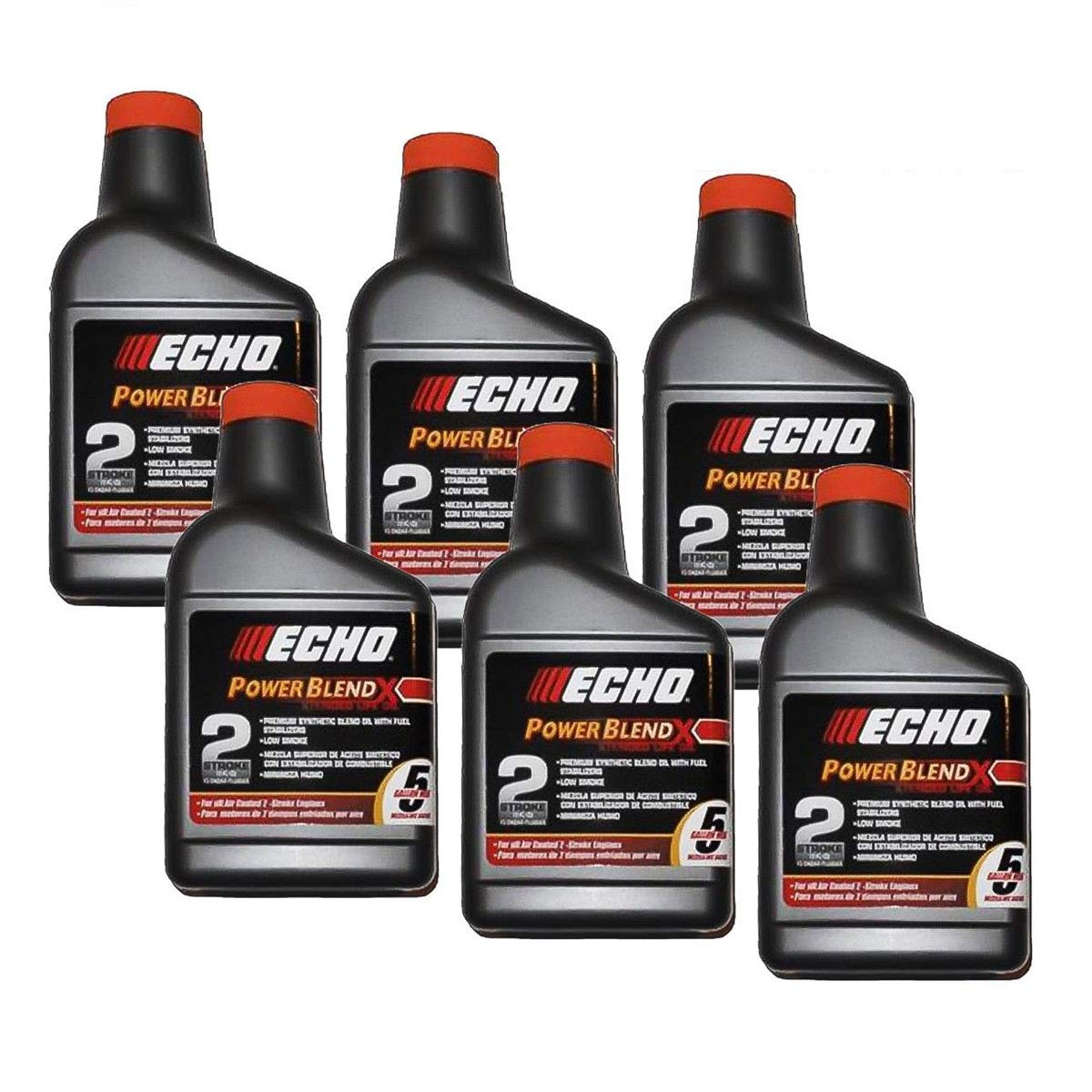 Genuine Echo 6 Pack Oil 12.8 oz Bottles 2 Cycle Mix for 5 Gallon Power Blend / 6450005 by Echo Power Equipment
