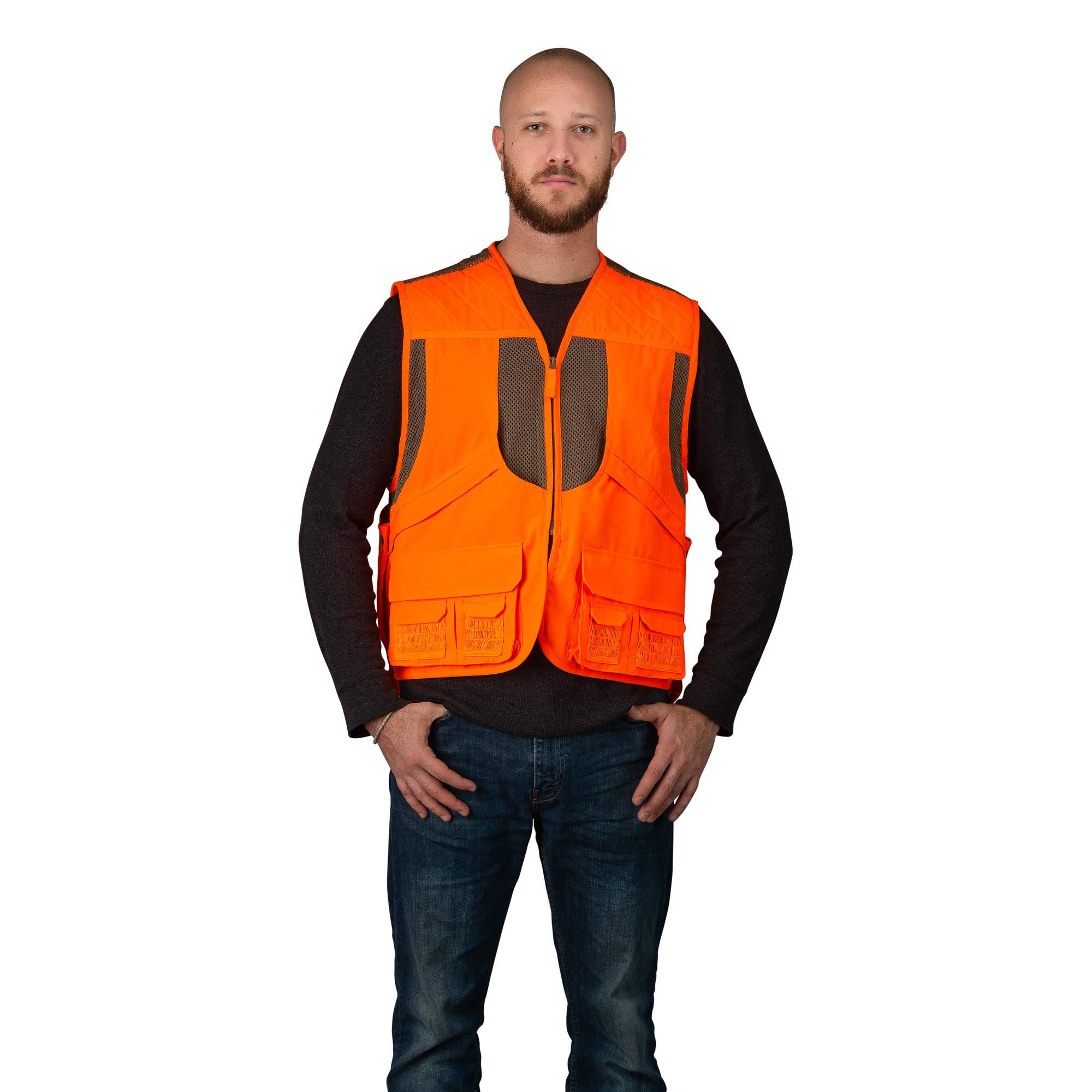 TrailCrest Mens Blaze Orange Safety Deluxe Front Loader Vest, 3X by TrailCrest (Image #5)