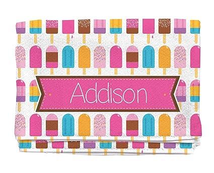 amazon com bright popsicles personalized beach towel kids towels