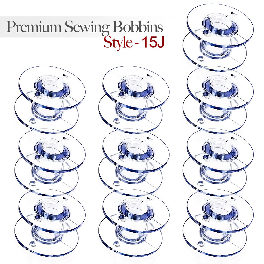 Style 15J Sewing Machine Bobbins for Singer - 10 Pack
