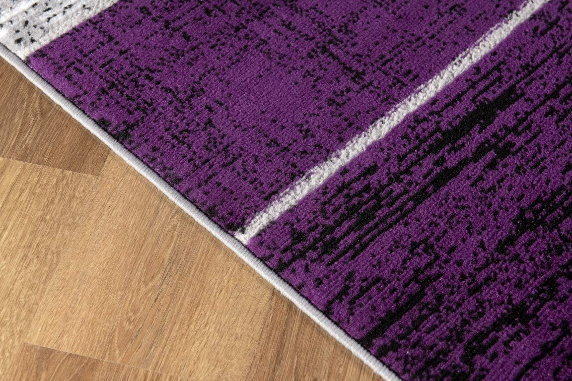 L Baiet Verena Purple Geometric 2 X 3 Rug Furniture Decor