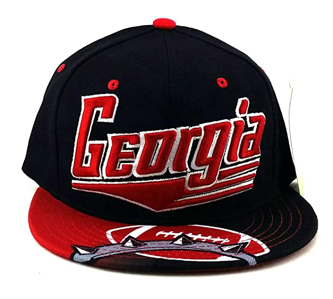 Amazon.com : Georgia Leader GA Flash Bulldogs Colors Black Red Era Snapback Hat Cap : Sports & Outdoors