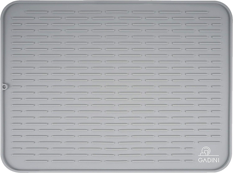 Gadini Silicone Dish Drying Mat For Kitchen – 24 X 18 Exrta Large Size (XXL) – Dish Drying Mat – Dish Drying Rack – Dish Mat – Counter Top Mat
