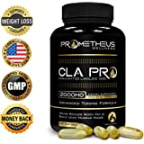 Prometheus Wellness Premium CLA PRO 2000 mg 120 Count Conjugated Linoleic Acid Softgels High Potency Optimum Dosage Best Pure Safflower Oil Belly Fat Burner Weight Loss Supplement for Men & Women 1250