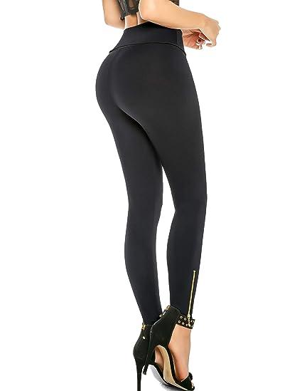 9cef2b56d6e Aranza Womens Leggings High Waist Butt Lifting Tummy Control Slimming  Compression Levanta Cola
