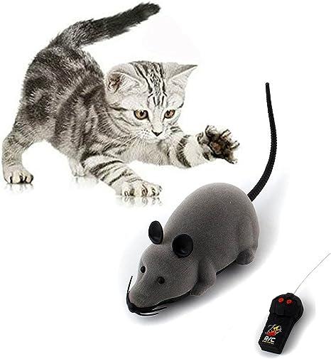 RC Elektrische Ferngesteuerte Ratte Maus mit Fernbedienung Haustier Katzen Hunde