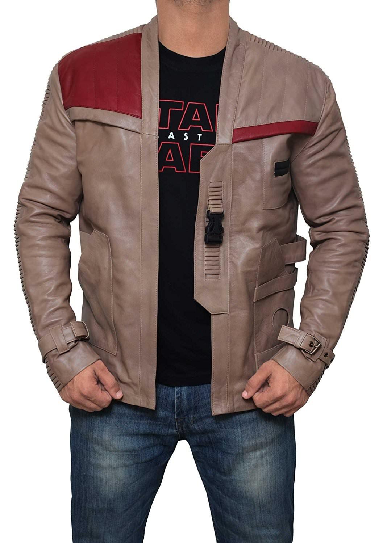 Decrum Star Wars Finn Genuine Distressed Vintage Leather Jacket | XXXL
