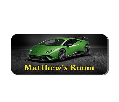 Solo Signs Uk Lamborghini Door Plaque Super Car Personalised